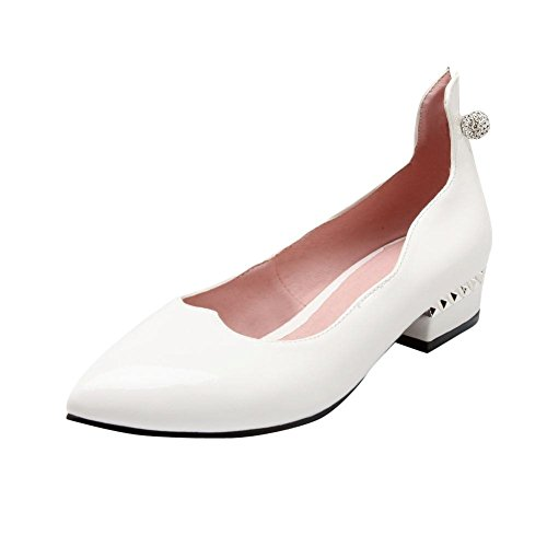 Show Shine Damesmode Sweet Puntschoen Loafers Schoenen Wit