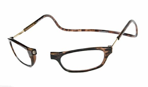 Clic Eyewear Readers Tortoise 2.00 (Clic Magnetic Long Size Reading Glasses in Tortoise +2.00)