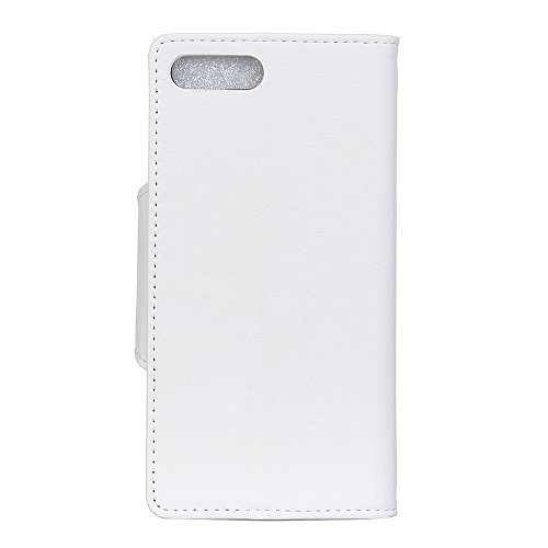 Funda iPhone 7 Plus / iPhone 8 Plus [Happon] Ranuras para Tarjetas y Billetera Carcasa PU Libro de Cuero Flip Leather Cierre Magnético Soporte Plegable para iPhone 7 Plus / iPhone 8 Plus (Azul) Blanco