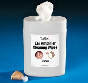 HEARING AID AND EAR AMPLIFIER DISPOSABLE WIPES