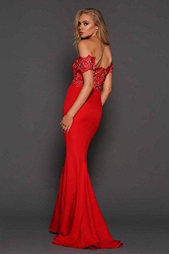 Elle Monroe Rosso fuori Pizzo la rosso Zeitoune abito spalla SaxSqr7