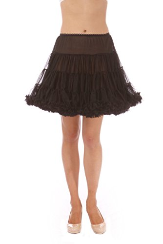 Malco Modes Girls Luxury Petticoat, Poodle Skirt Costume, Crinoline Underskirt, (Black, Medium) - Turquoise Poodle Skirt