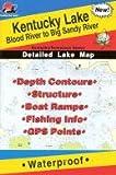 Kentucky Lake Fishing Map: Blood River to Big Sandy River (Kentucky/Tennessee Fishing Map Series, L121)