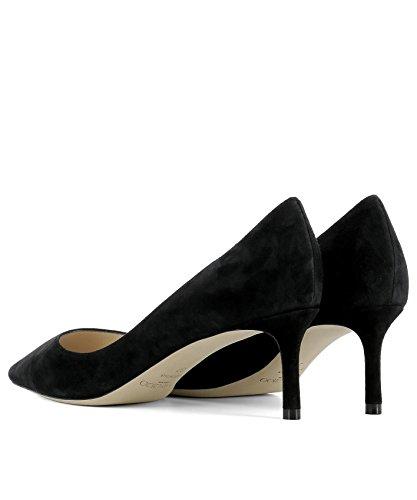 Jimmy Choo Mujer ROMY60SUEBLACK Negro Gamuza Zapatos Altos