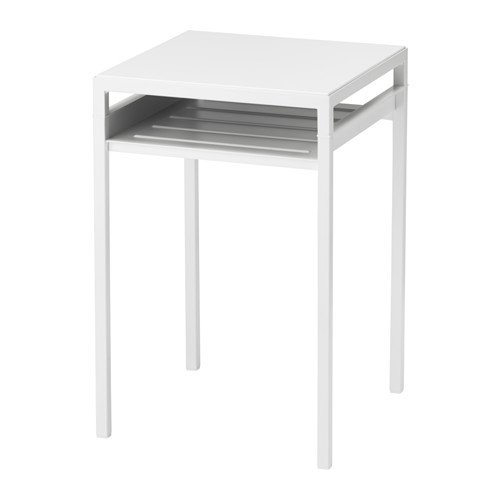 Ikea Side table w reversible table top, white/gray Size 15 3