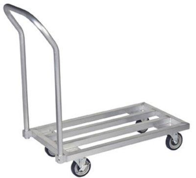 Focus FMADR4824 48-in Welded Aluminum Mobile Dunnage Rack, 24-in Deep, Each