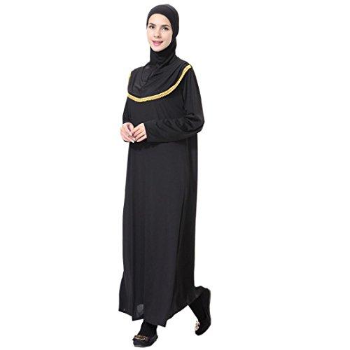 Di Altalena Abaya Lunga Vestito Maxi Blocco Oro Colore Musulmani Caftano Manica Dai Alivegot Donne n6SpRR