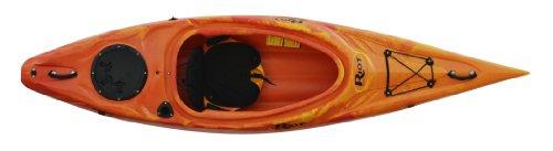 Riot Kayaks Quest 10 Flatwater Recreational Kayak, Yellow/Red