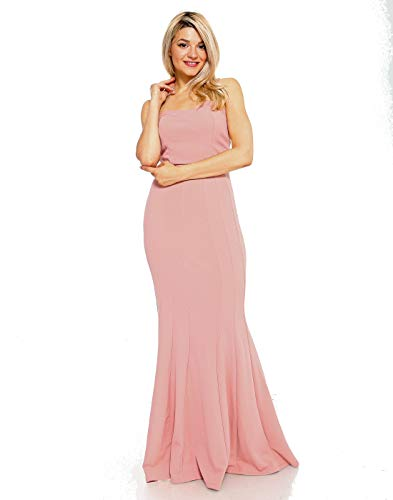 Teeze Me | Strapless Tube Top Trumpet Skirt Long Dress | Blush]()