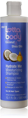 Lotta Body Coconut & Shea Oils Hydrate Me Moisturizing Shampoo, 10.1 Ounce