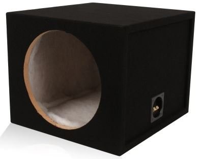 (Belva 12-inch Car Subwoofer Box Sealed 3/4-inch MDF Prelined Polyfil [MDFS1215])