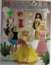 Fashion Doll Prom Dresses in Thread Crochet