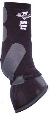 Professionals Choice Equine Smb Combo Front Boot, Pair (Medium, Black) by Professional's Choice