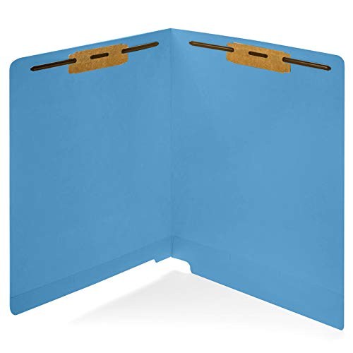 50 End Tab File Folders, Reinforced End Tab, 50 Pack (Blue) (File Tab End)