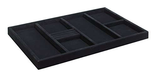 ClosetMaid 8920 SuiteSymphony Jewelry Tray Insert, Black (Closet Maid Black Drawer)
