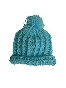 Children Cap - Crochet - 3-6 months - Ski blue Color