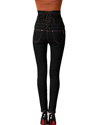 Beautisun Noir Jeans Jeans Femme Beautisun CwS0HCq