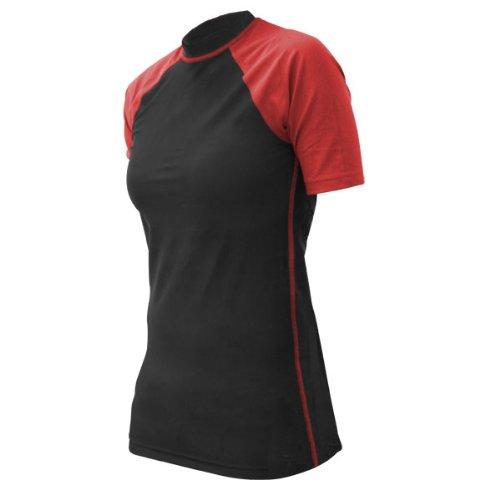Revgear Women's Rash Guard (Black/Red, Large)