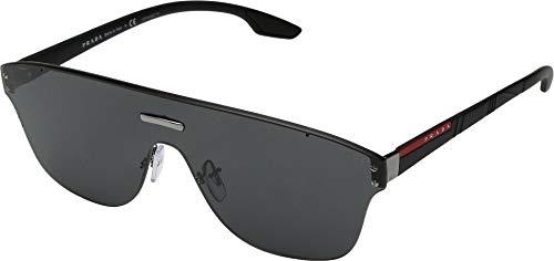 (Prada Linea Rossa Men's 0PS 57TS Gunmetal/Black Rubber/Dark Grey One Size)