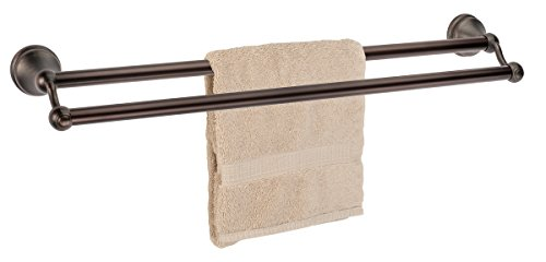 Dynasty Hardware Brentwood 24 Inch Double Towel Bar Oil Rubbed Bronze ()