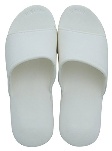 Slip On Slippers Non-slip Shower Sandals House Mule Think Foams Sole Pool Beach Shoes Bathroom Slide for Adult White