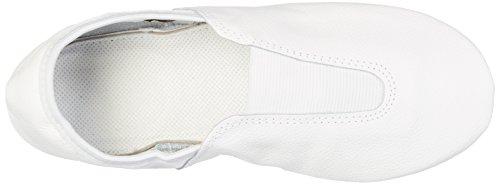 Rumpf 1030Ballet Gimnasia Sport schläppchen cromo piel Suela con 2insertos de goma, blanco, 42 UE blanco