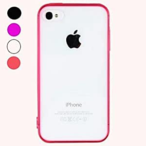 SJT Transparent Design Durable Hard Case for iPhone 4/4S (Assorted Colors) , White