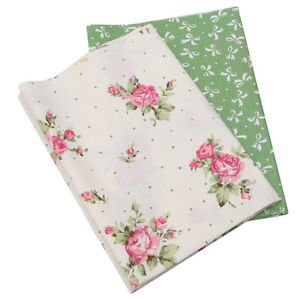 2PCS 50x40cm Cotton Fabric Material DIY Craft Sewing Patchwork Quilting Cushion