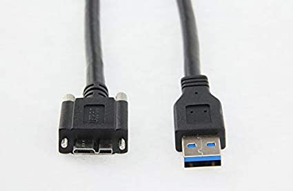 Cable Length: 120cm Computer Cables 5Gbps Micro B USB 3.0 Micro B Cable Wire with Panel Mount Screw Lock Connector Cord Prevent Come Off 1.5m 2m 3m 5m 2 3 5 Meters