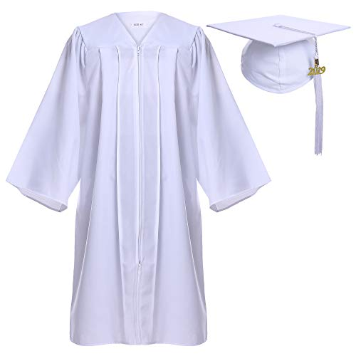 Newrara Graduation Gown Cap Tassel Set (Large 51(5'6