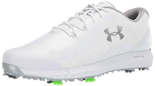 Under Armour Men's HOVR Drive Woven Golf Shoe, White (101)/Metallic Silver, 12 M US ()