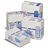 North by Honeywell 017000 Adhesive Bandage, Blue, not metal detectable, Woven Strips, 1-Inch x 3-Inch, 100 per box