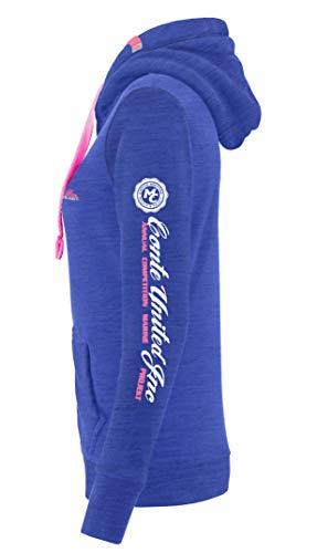 Donna Sweat Xl Shirt Melange Cerniera L Felpa Zip S Cappuccio Maglia M Giacca Grigio Conte blu Nero Blu Da Bianco Rachel Con BYHxqqvwP