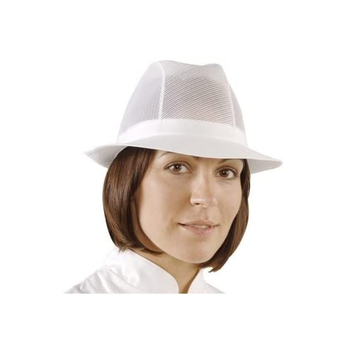 Traditional and stylish kitchen Trilby Hat White - Size L - Great for increasing hygiene levels in your kitchen
