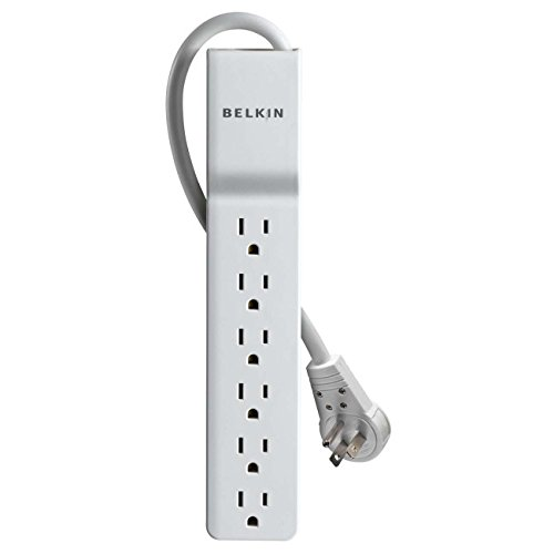 BKNBE10600006R - BELKIN BE106000-06R 6-Outlet Home Office Surge Protector with Rotating Plug