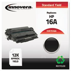 – Remanufactured Q7516A (16A) Laser Toner, 12000 Yield, Black