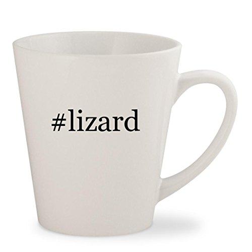 #lizard - White Hashtag 12oz Ceramic Latte Mug Cup