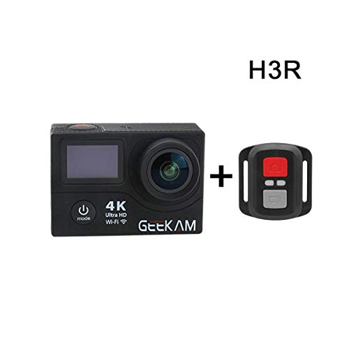 GEEKAM H3R Waterproof 4K WiFi Ultra HD 30M Sport Video Action Camera - Black