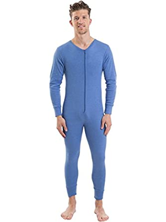 2cozee mens thermal underwear long sleeve all in one for Mens dress shirt onesie