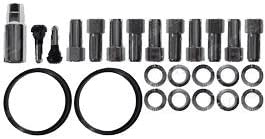 Race Star Wheels 12mm x 1.5 Closed End Deluxe Lug Kit 10 pack