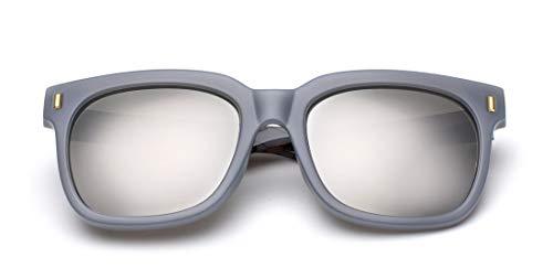 de para Ligero Sol Mujer Gafas Retro Fliegend Ultra de Espejo Hombre Gafas UV400 Polarizadas Lente de Vintage Plata Sol Unisex Gafas Sol RnXwnZqfz