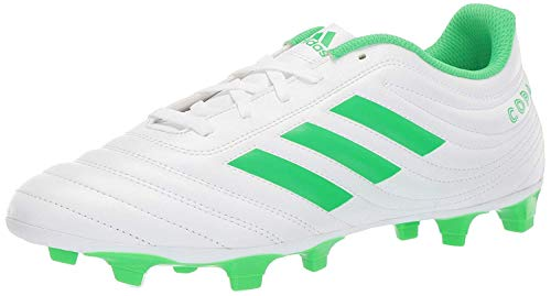 adidas Men's Copa 19.4 Firm Ground Soccer Shoe, Solar Lime/White, 7 M US (Cleats Adidas 7 Soccer)