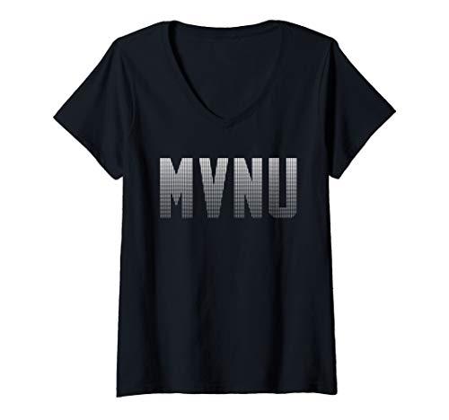 Womens  Mount Vernon Nazarene University Cougars NCAA MVNU01 V-Neck - Cougars Practice T-shirt Football