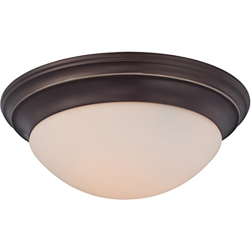 Summit Outdoor Three Light - Quoizel SMT1617PN Summit Flush Mount Ceiling Lighting, 3-Light, 225 Watts, Palladian Bronze (6