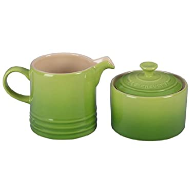 Le Creuset Stoneware Cream and Sugar Set, Palm