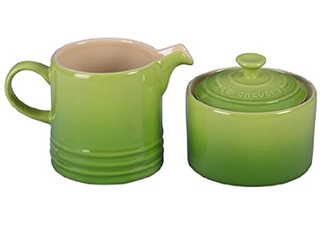 Le Creuset Stoneware Cream and Sugar Set, Palm - Light Green Bowl