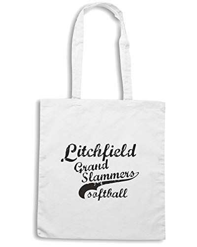 Speed Shirt Borsa Shopper Bianca WC0455 LITCHFIELD GRAND SLAMMERS SOFTBALL