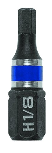 IRWIN 1899816 Impact Performance Series Screwdriver Insert Bit, 1/8-Inch Hex, 1-Inch, 25-Pack