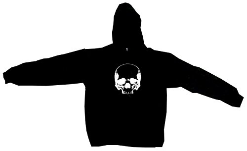 Big Skull Logo Men's Hoodie Sweat Shirt XXXXL (4XL), Black