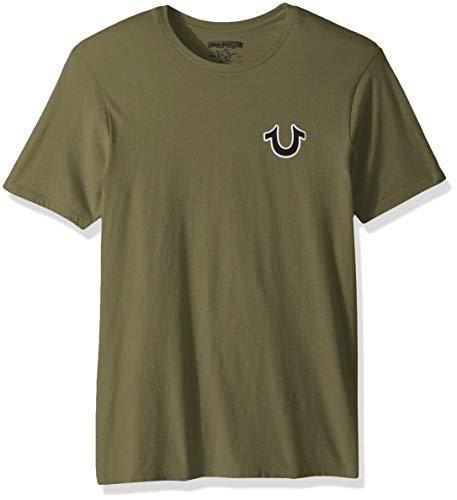 (True Religion Men's Buddha Logo Short Sleeve Tee, Militant Green, XXL )